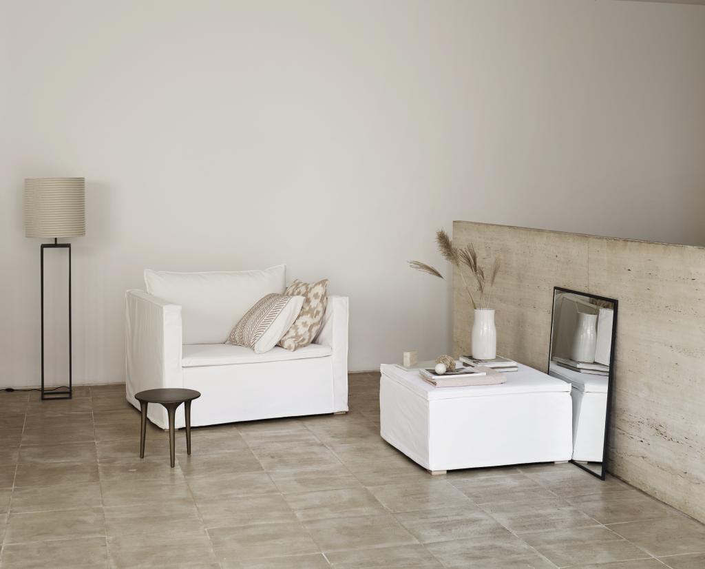 White Linen Sofa Collection