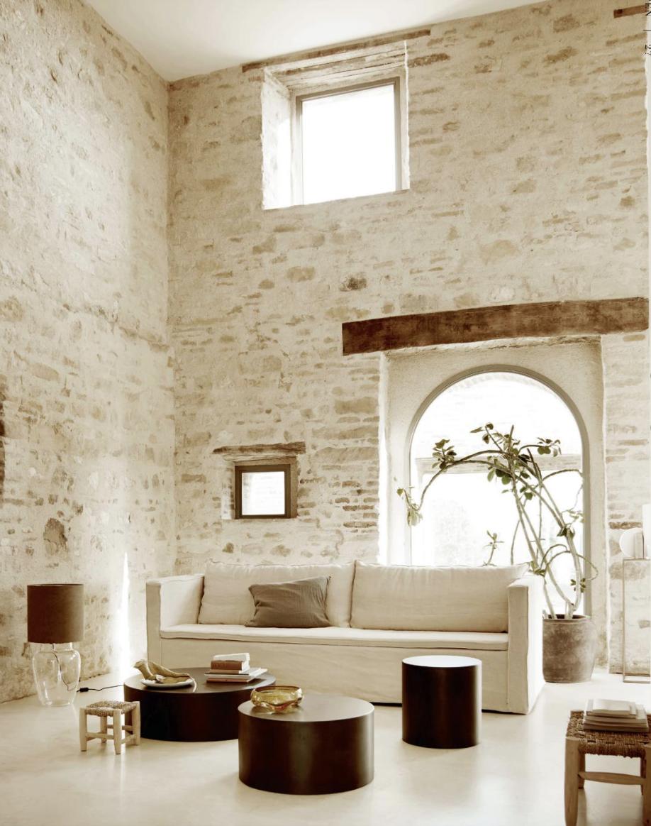 White Linen Sofa